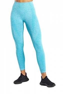 Pau1Hami1ton Hohe Taille Nahtlose Leggings für Damen Gym Capri Strumpfhose Yogahosen Mädchen Fitness Sport Gradient Seamless Leggings GP-13(LightBlue,M) von Pau1Hami1ton