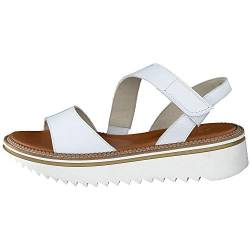 Paul Green Damen SUPER Soft Plateau-Sandale 7640, Frauen Plateausandalen, Freizeit leger Plateau-Sandalette sommerschuh bequem,White,5 UK / 38 UK von Paul Green