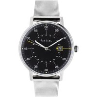 Paul Smith Gauge Mesh Bracelet Herrenuhr in Silber P10131 von Paul Smith