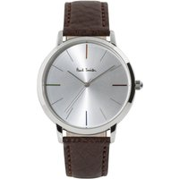 Paul Smith MA Small Leather Strap Unisexuhr in Braun P10100 von Paul Smith
