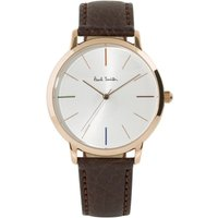 Paul Smith MA Small Leather Strap Unisexuhr in Braun P10101 von Paul Smith