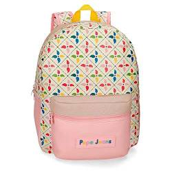 Pepe Jeans Tina Rucksack Mehrfarbig 33x42x14 cms Synthetisches Leder 20.83L von Pepe Jeans