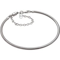 Damen Persona 22cm Charm Armband With Safety Kette Sterling-Silber H11380B1-L von Persona