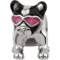 Damen Persona Frenchie Kiss Bead Charm Sterling-Silber H14130P1 von Persona