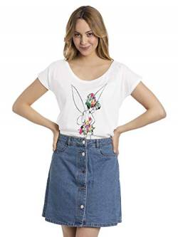 Peter PAN Tinker Bell - Flower Power Frauen T-Shirt weiß XL von Peter PAN
