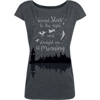 Peter Pan Neverland - Second Star  T-Shirt  grau meliert von Peter Pan