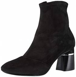 Phillip Lim 3.1 Damen DRUM-70MM Stretch Ankle Boot Stiefelette, Schwarze Velourslederoptik, 37.5/38 EU von Phillip Lim