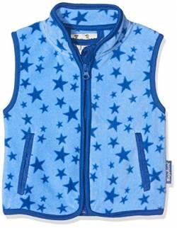 cabab6298a Playshoes Baby-Mädchen Weste Fleeceweste Allover Sterne, Oeko-Tex Standard  101, blau