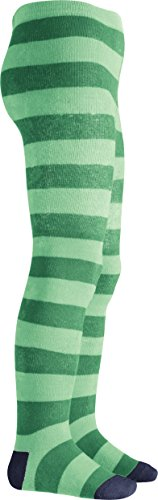 Playshoes Mädchen Thermostrumpfhose Blockringel Strumpfhose, Grün (Grün 29), 74 von Playshoes