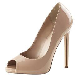 Pleaser SEXY-42, Damen Pumps, Beige (Cremefarben (Nude Pat)), 40 EU (7 Damen UK) von Pleaser