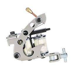 Alloy Tattoo Machine, professionelle Kupferspulen Iron Tattooist Shader, mit 10 Wraps Coil Kupferdraht, für Liner Shader Gun, Tätowierer Body Art Tool Shader Supply Equipment von Pongnas