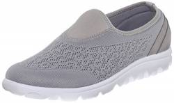 Propét Damen Slip On TravelActiv Slipper, Silber, 37 N US von Propét