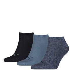 Puma Unisex Sportsocken Invisible 3er Pack, denim blue, 35/38, 251025 von PUMA