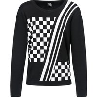 Pussy Deluxe Checkered Knit Pullover schwarz/white von Pussy Deluxe