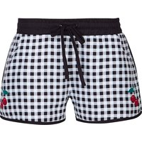 Pussy Deluxe Plaid Girl Boardshorts black/white von Pussy Deluxe