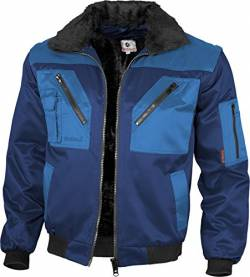 Qualitex - Pilotenjacke 4 in 1, Marine/Royal , S von Qualitex