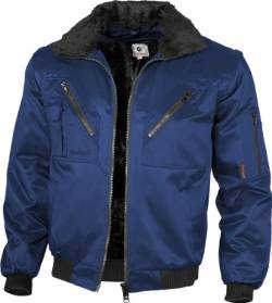 Qualitex - Pilotenjacke 4 in 1, Marine , M von Qualitex