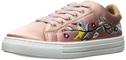 Qupid Women's Reba-165c Fashion Sneaker, Mauve Satin, 9 M US von Qupid