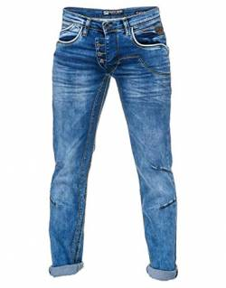 Herren Jeans Rusty Neal Jeanshose 'Ruben' Regular Fit 'DIE ETWAS ANDERE Jeans' Stretch Denim, Hosengröße:31W / 32L, Denim Color:8442-30 von R-Neal
