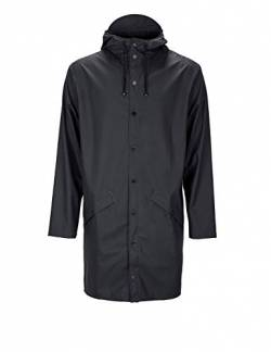 Rains Herren Regenmantel Long Jacket, schwarz, Medium/Large (Herstellergröße: Medium/Large) von RAINS