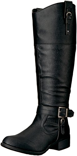 RAMPAGE Women's Ivelia Fashion Knee High Casual Riding Boot, Black Wide Calf, 6.5 M US von RAMPAGE