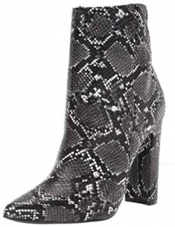 RAMPAGE Women's Fashion Heeled Boot, Black/White, 5.5 von RAMPAGE