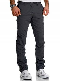 REPUBLIX Herren Regular Slim Stretch Chino Hose Fit R7019 Anthrazit W30/L30 von REPUBLIX