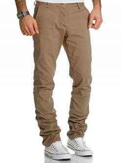 REPUBLIX Herren Regular Slim Stretch Chino Hose Fit R7019 Beige W33/L30 von REPUBLIX