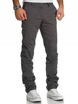 REPUBLIX Herren Regular Slim Stretch Chino Hose Fit R7019 Dunkelgrau W30/L30 von REPUBLIX