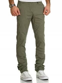 REPUBLIX Herren Regular Slim Stretch Chino Hose Fit R7019 Olive W34/L32 von REPUBLIX