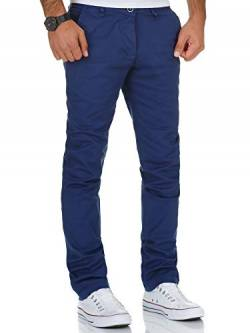 REPUBLIX Herren Regular Slim Stretch Chino Hose Fit R7019 Royalblau W30/L30 von REPUBLIX