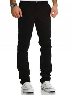 REPUBLIX Herren Regular Slim Stretch Chino Hose Fit R7019 Schwarz W29/L32 von REPUBLIX