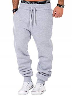 REPUBLIX Herren Sporthose Jogger Jogginghose Sweatpants Trainingshose R0704 Hellgrau S von REPUBLIX