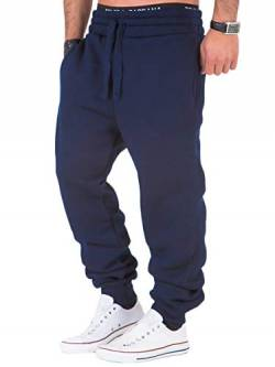REPUBLIX Herren Sporthose Jogger Jogginghose Sweatpants Trainingshose R0704 Navyblau 5XL von REPUBLIX