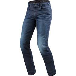REV'IT! Motorrad Jeans Motorradhose Motorradjeans Vendome 2 RF Jeanshose dunkelblau Used 30/32, Herren, Chopper/Cruiser, Sommer, Textil von REV'IT!