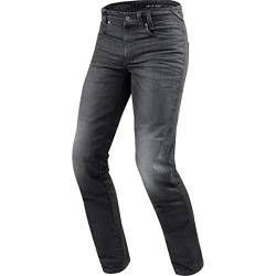 REV'IT! Motorrad Jeans Motorradhose Motorradjeans Vendome 2 RF Jeanshose dunkelgrau Used 33/34, Herren, Chopper/Cruiser, Sommer, Textil von REV'IT!