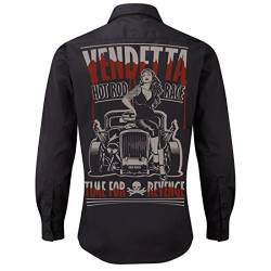 Worker Shirt, Langarm Hemd, Rock'n'Roll, V8, Hot Rod, Pin Up, Vendetta von ROAD RODEO