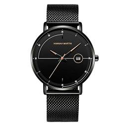 RORIOS Business Men Minimalist Watch Sport Watch Quartz Analog Diamond Watches Calendar Stainless Steel Mesh Strap Ultra Thin Wrist Watches von rorios