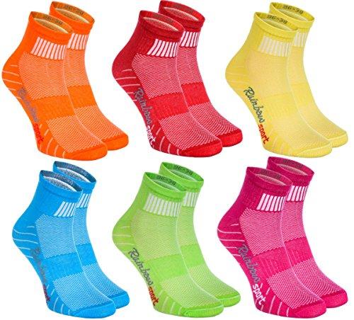 Jungen M/ädchen Sneaker Bunte Baumwolle Sport Socken Rainbow Socks