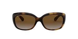 Ray-Ban Damen 4101 Sonnenbrille, Light Havana/Greygradientbrownpolar, 58 von Ray-Ban