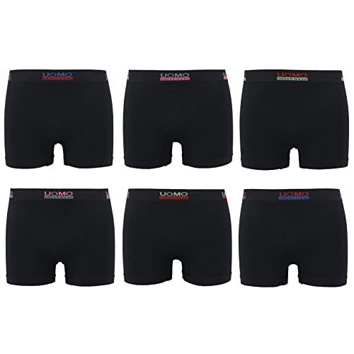 6er PackMicrofaser Uomo Tiger Drache Tattoo Pants Herren Boxershorts  Shorts