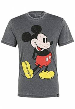 Disney Mickey Classic Pose Charcoal T-Shirt Size M by Re:Covered von Recovered