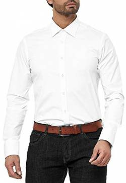 Red Bridge Herren Hemd Basic Design Regular Modern Fit Langarm Bügelleicht Weiß XXL von Redbridge