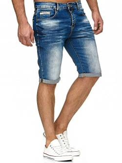 Red Bridge Herren Jeans Short Kurze Hose Denim Basic Blau W34 von Redbridge