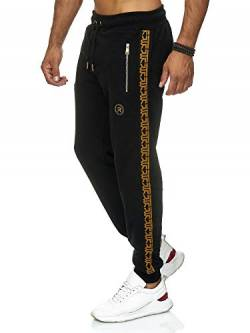 Red Bridge Herren Jogginghose Jogger Hose Sweat-Pants R-Logo Premium M4237 Schwarz S von Redbridge