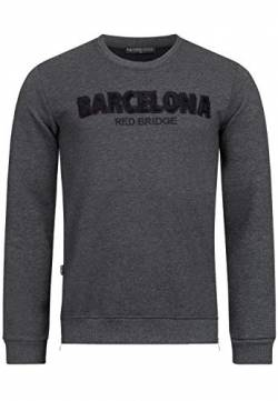 Red Bridge Herren Sweater Pullover Barcelona Anthrazit L von Redbridge