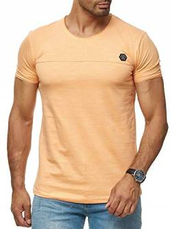 Red Bridge Herren T-Shirt Cross Line Kurzarm Shirt Baumwolle Rundhalsausschnitt M1306 Orange L von Redbridge