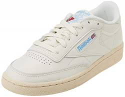 Reebok Damen Club C 85 Laufschuhe, Chalk Paperwhite Athletic Blue Excellent Red, 36 EU von Reebok