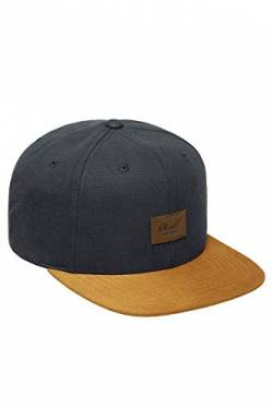 Herren Kappe REELL Suede Cap, Charcoal, One Size von Reell