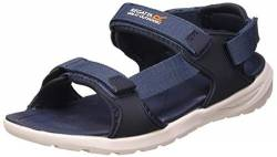 Regatta Herren Marine Web' 3 Points Adjustment Removable Heel Strap Shock Absorbing Eva Footbed Sandals Sportsandale, Dark Denim/Navy, 45 EU von Regatta